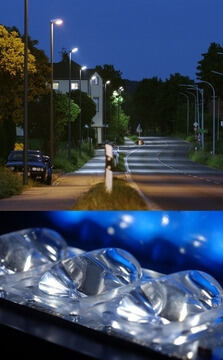 High-efficiency freeform optics for street lighting